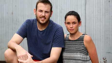 Ben and his sister Terri Lockwood. Picture: Adam Head