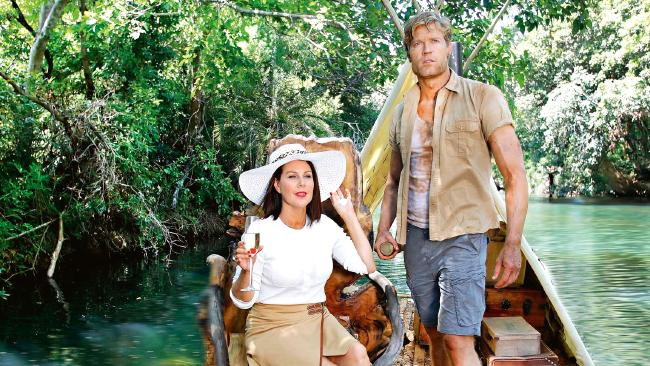 I'm a Celeb hosts Julia Morris and Dr Chris Brown.
