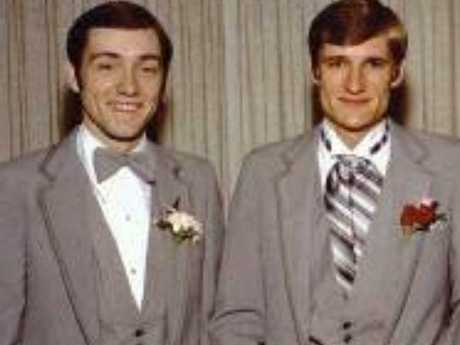 Kevin Spacey (l) with his brother Randy Fowler. Picture: Facebook