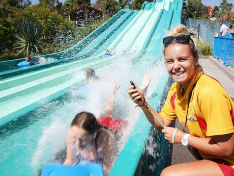 Adventure park in Wallington is hosting their annual Australia Day aqua race down the waterslide tomorrow. Picture: Mark Wilson