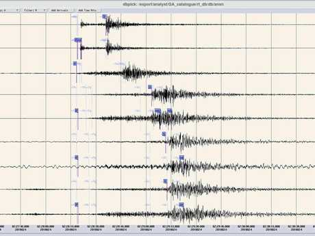 COFFS QUAKE: A waveform image of the 4.2 magnitude earthquake which struck the Coffs Coast on Wednesday, January 24, 2018.
