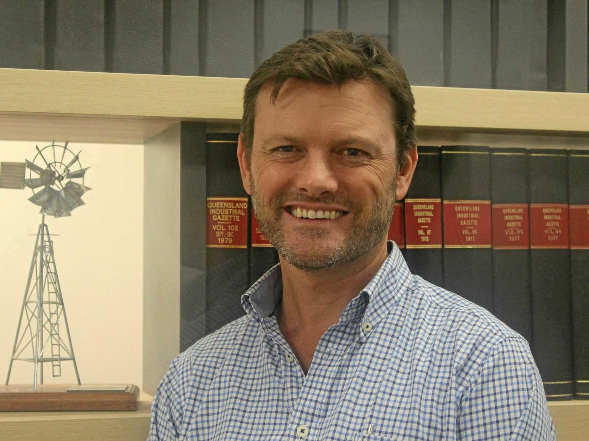BIG RETURNS: AgForce Sheep and Wool Policy Director Michael Allpass.