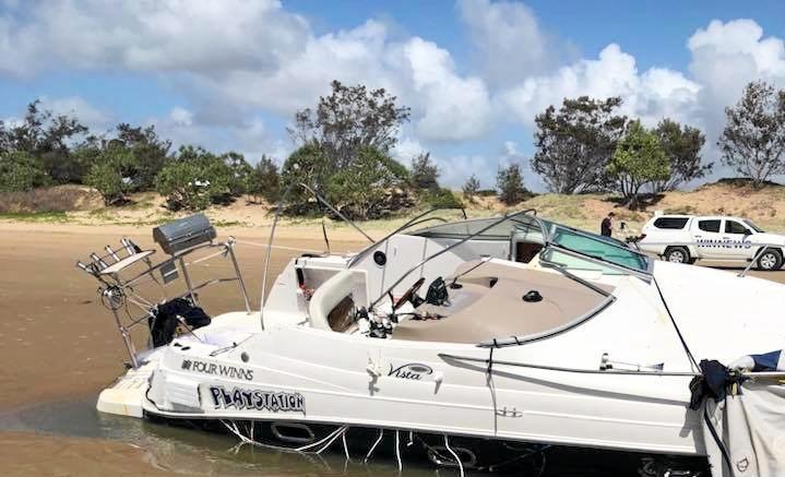 A Mackay man's boat washed up at Farnborough Beach.