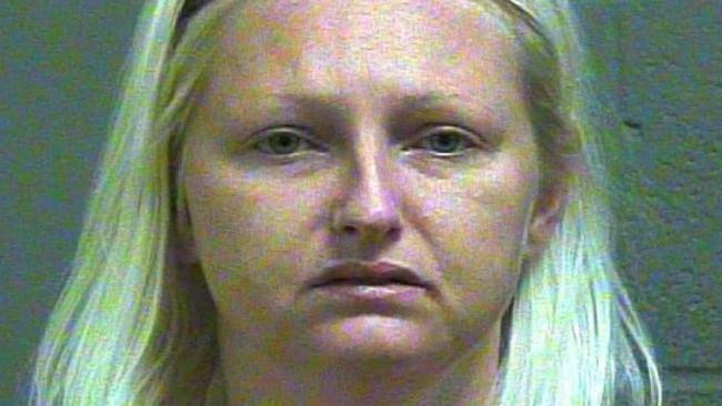 Amber McMurtrey allegedly stabbed and killed her husband, according to her 8-year-old son. Picture: Oklahoma County Jail