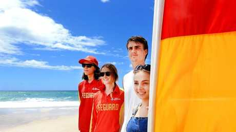 Two people on their first date almost drowned at Dreamtime Beach at Fingal last week before lifeguards managed to rescue them from the surf.