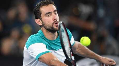 Croatia's Marin Cilic is all that stands in the way of Roger Federer and a record-equalling sixth Australian Open title. Picture: AFP