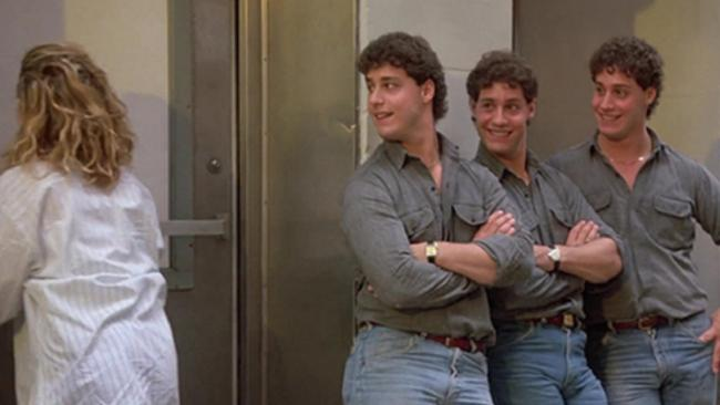 The triplets in a scene with Madonna in 'Desperately Seeking Susan'.