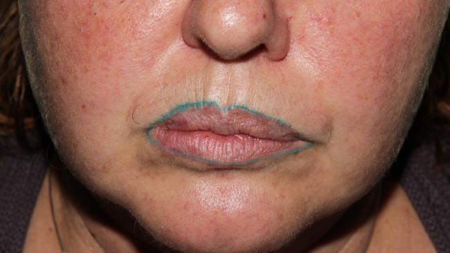 Karine lip liner turned green instead of burgundy.