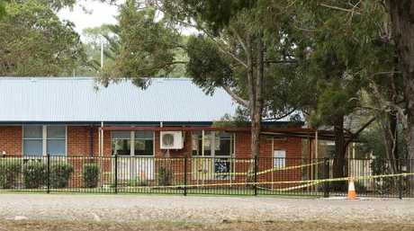 Part of the Banksia Road Public School is still roped off. Picture: Tim Hunter