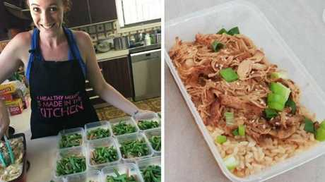Ashleigh loves meal prep because she saves money by not wasting what's in the fridge. Source: Supplied