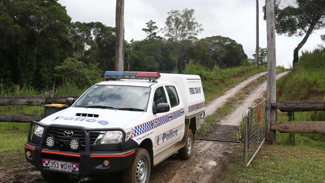 Police at the scene. Picture: Brendan Radke