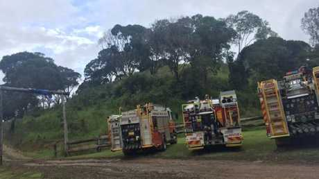 Queensland Fire and Emergency Services were also called to the scene. Picture: Gizelle Ghidella