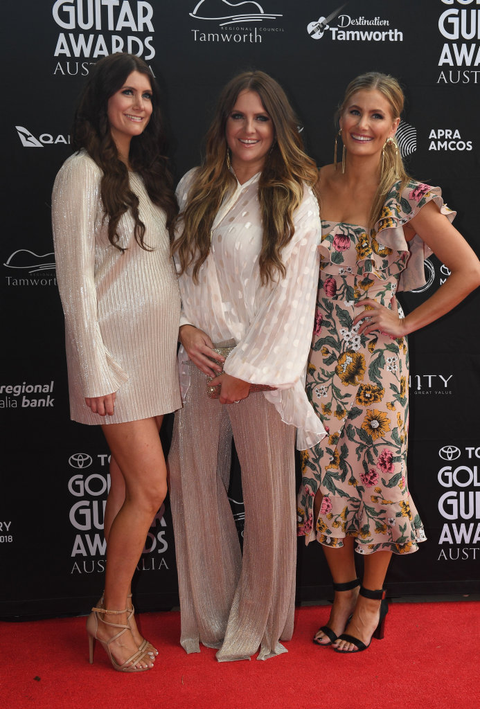 Country and Western singers The McClymonts on the red carpet at Golden Guitar Awards at the 46th Tamworth Country Music Festival in Tamworth, New South Wales.