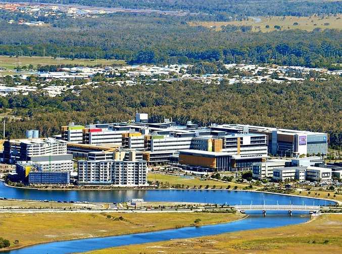 Aerial photography Sunshine Coast. Sunshine Coast University Hospital.