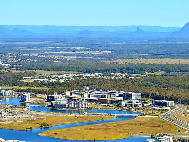 Aerial photography Sunshine Coast. Sunshine Coast University Hospital.