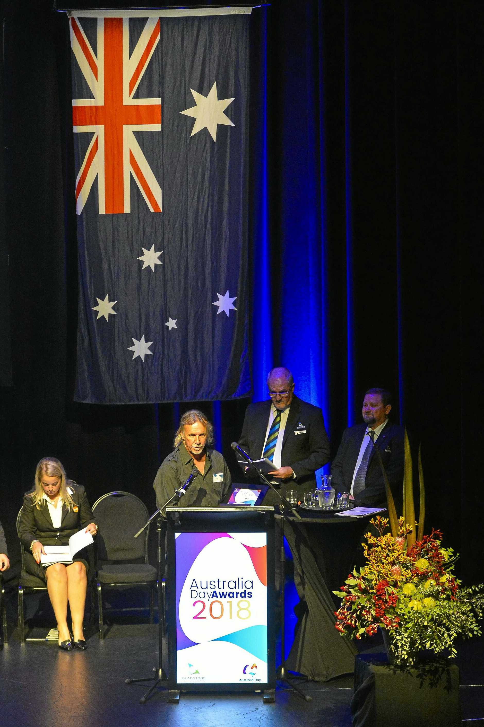 Commercial Fisherman Kevin Watson was the recipient of Gladstone Regional Council's Citizen of the Year award, at the 2018 Australia Day Awards and Citizenship Ceremony, held at the Gladstone Entertainment and Convention Centre on January 25, 2018.