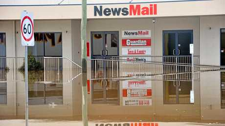 The Bundaberg NewsMail was evacuated due to the record breaking flooding experienced in Bundaberg.