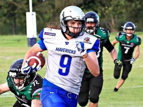 Mackay Mavericks' receiver Tim Hottes showed promise in his side's loss to Cairns.