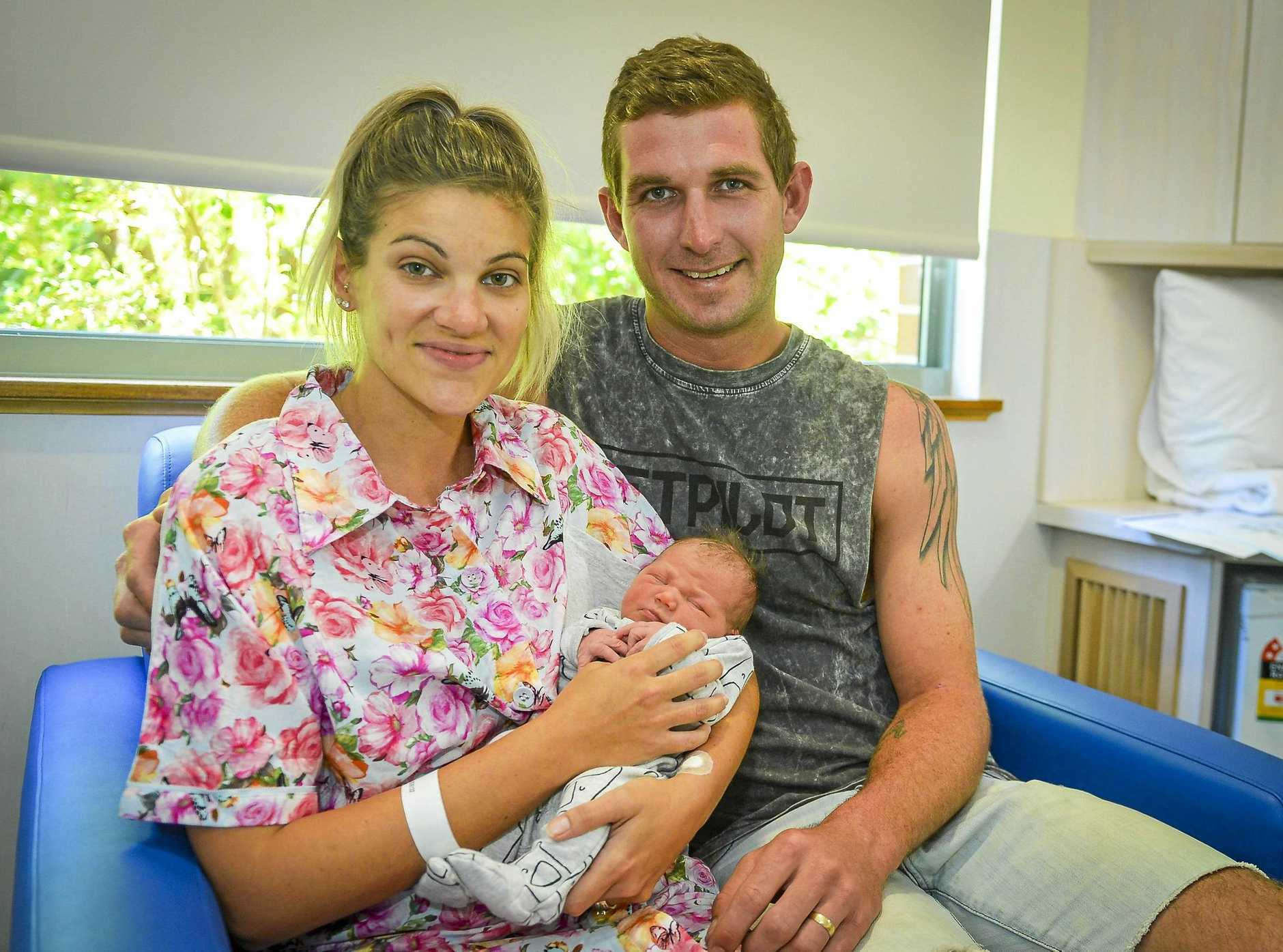 ECSTATIC: Luca Isabel Elsie Ryan was born to mum Kaitlyn Ryan and dad Mitch Ryan on  January 25 at Gladstone's Mater Hospital.