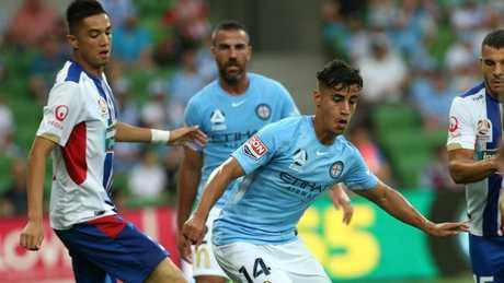Daniel Arzani showed his class against Newcastle Jets.