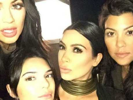 Kim Kardashian on a date with her sisters. Picture: Instagram