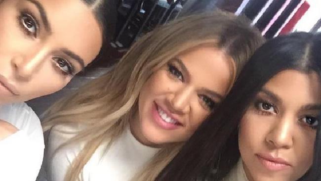 Kim, Khloe and Kourtney Kardashian Picture: Instagram