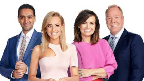Waleed Aly, Carrie Bickmore, Lisa Wilkinson and Pete Helliar. Supplied: Ten