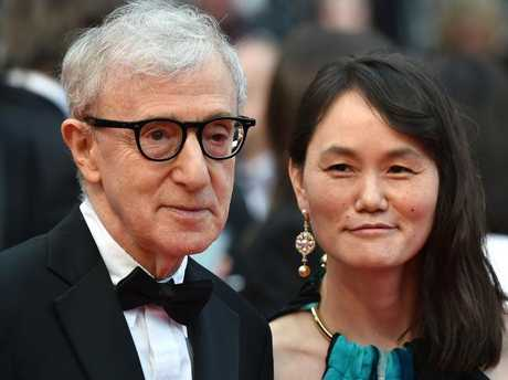 Woody Allen and his wife Soon-Yi Previn, who was adopted as a child by Mia Farrow.