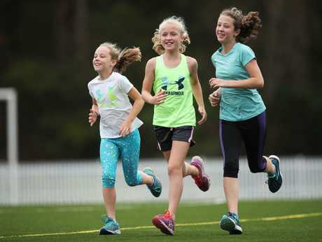 Georgina Arherns said exercise improved her daughters' physical health as well as concentration at school.