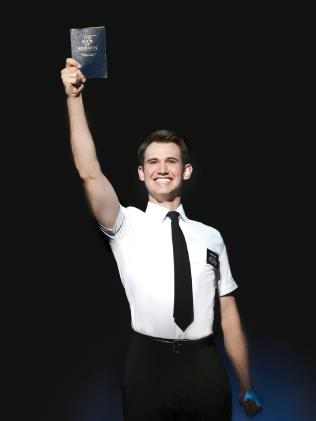 Ryan Bondy as Elder Price in the The Book of Mormon. Picture: Jeff Busby