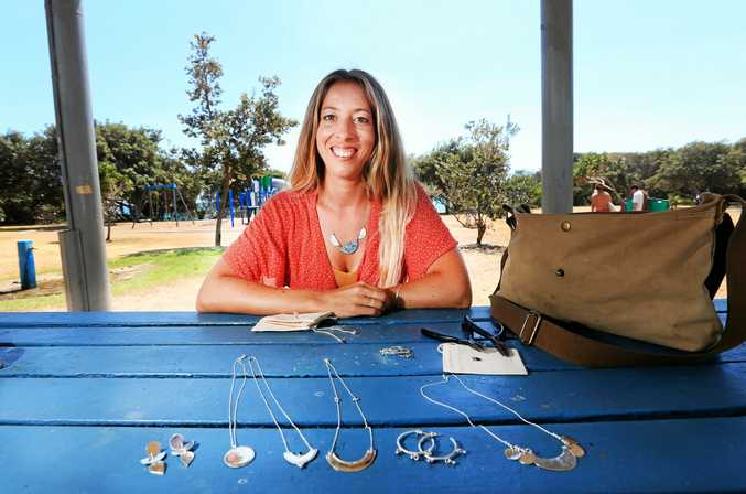 Amy has a growing jewelry business which she started in Cabarita and now has a studio in Byron Bay.