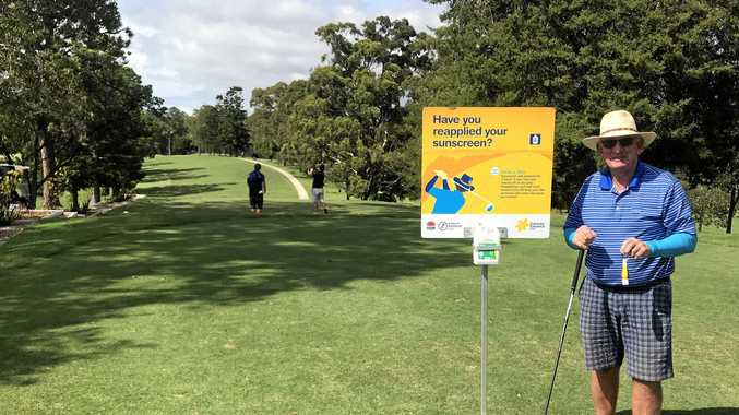 LONG GAME: Coffs Harbour Golf Club president Russ McConchie encourages local golfers to be sun-safe when on the course.