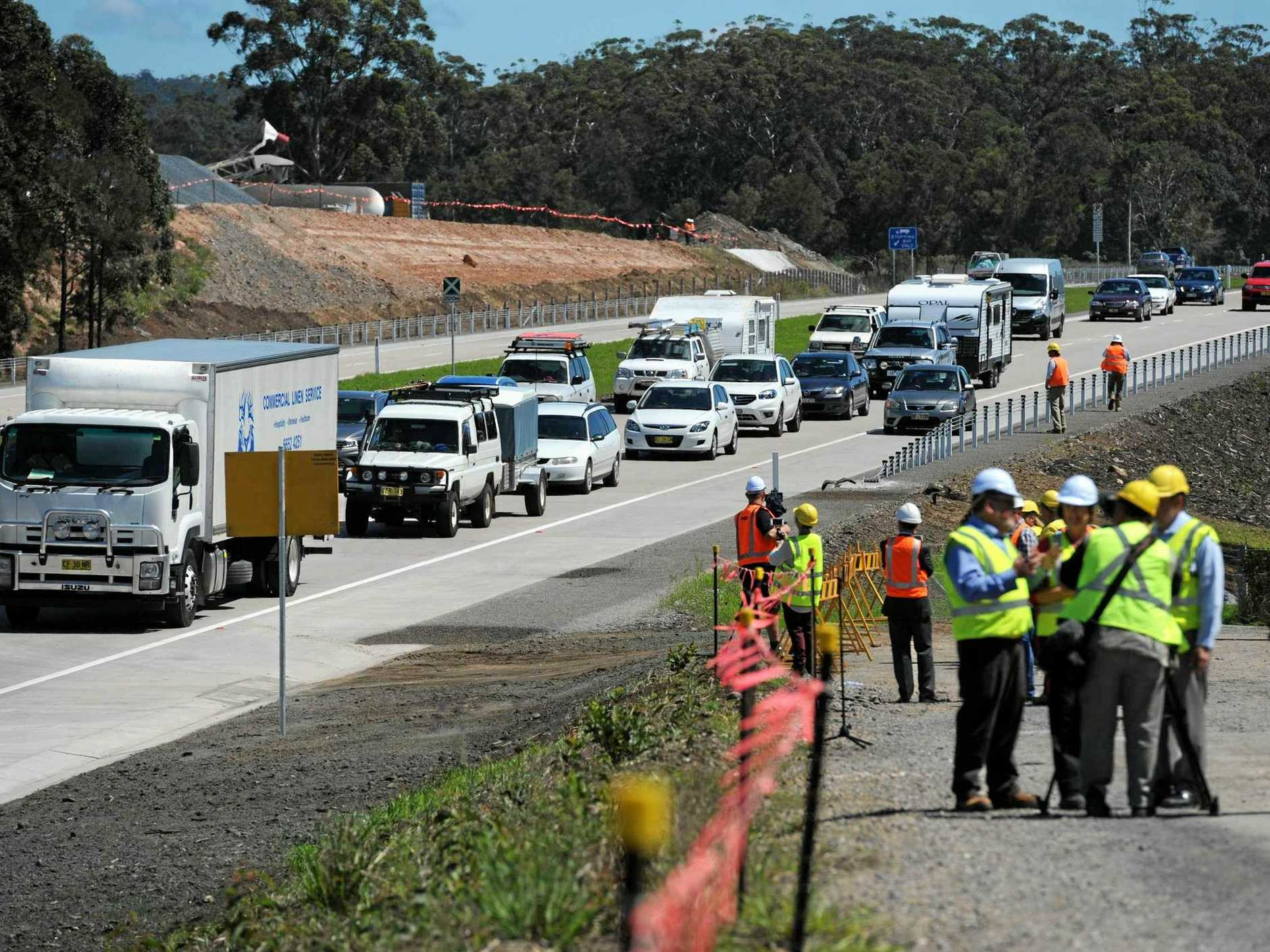 Work continues on the upgrade to the Pacific Highway between Woolgoolga and Ballina.