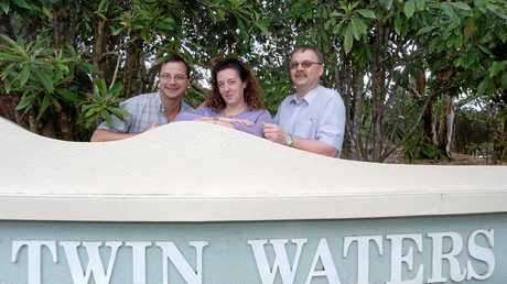 FLASHBACK: In 2003, then Novotel Twin Waters Resort financial controller Lutz H Kramer chats with director of sales and marketing Karen Sainsbury and food and beverages manager Martin Grunert.