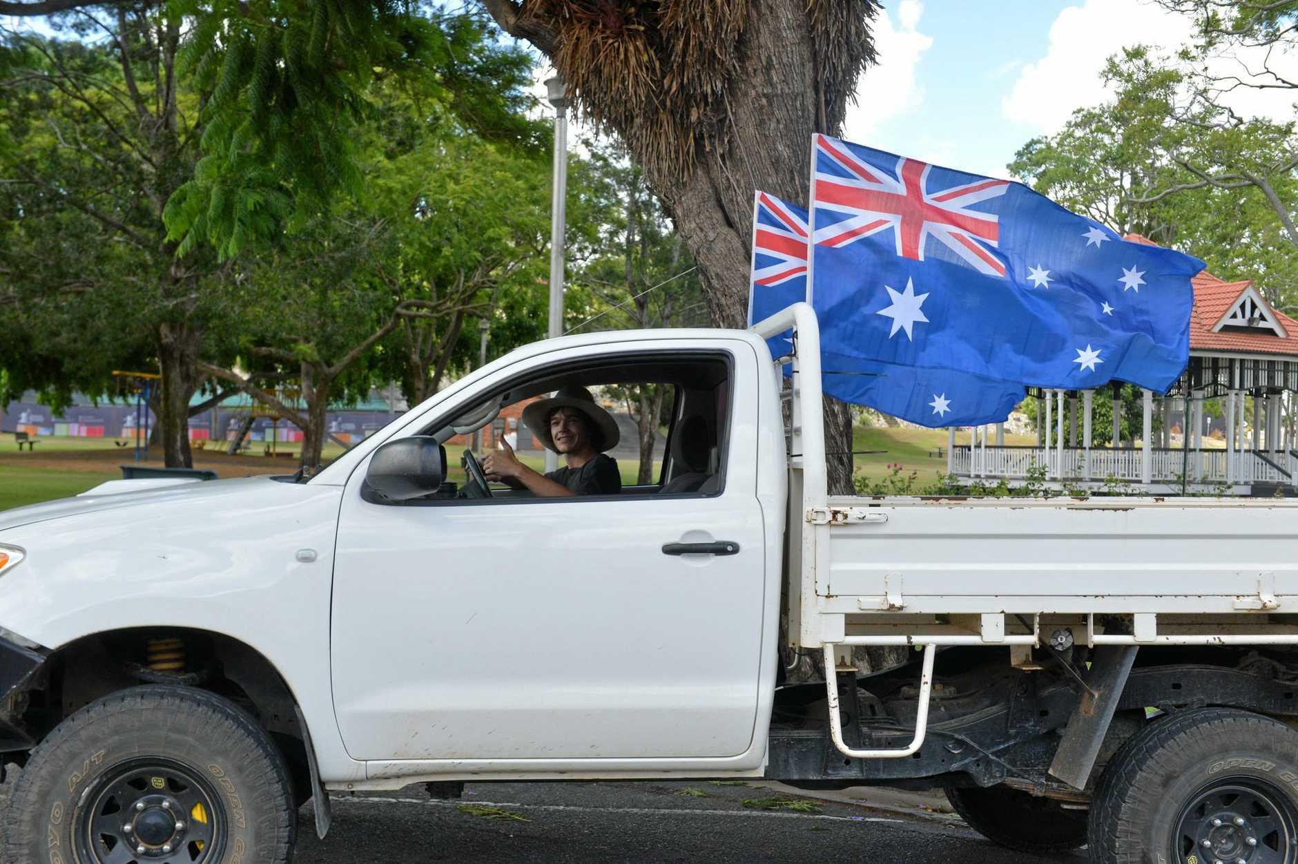 STRAYA! Ernest Jocumsen got into the spirit of Australia Day.