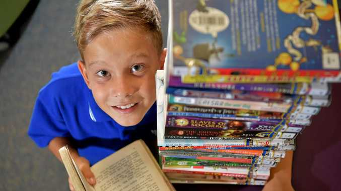 GOOD READ: Year 4 Mooloolaba State School student Archie Mayfield loves reading and adventure.