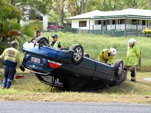 Woman injured in car rollover