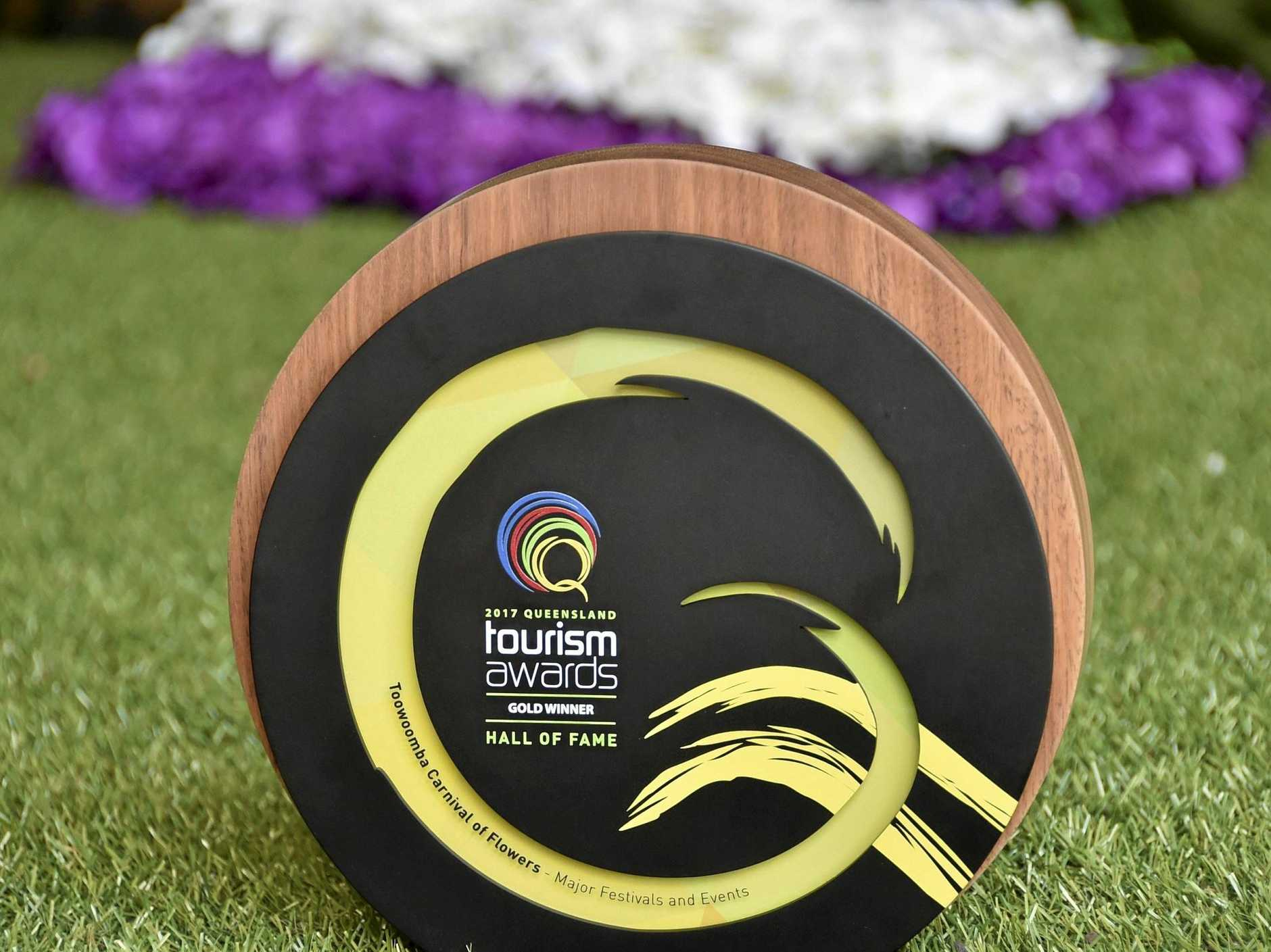Tourism award for the best major festival in Queensland, the Toowoomba Carnival of Flowers.