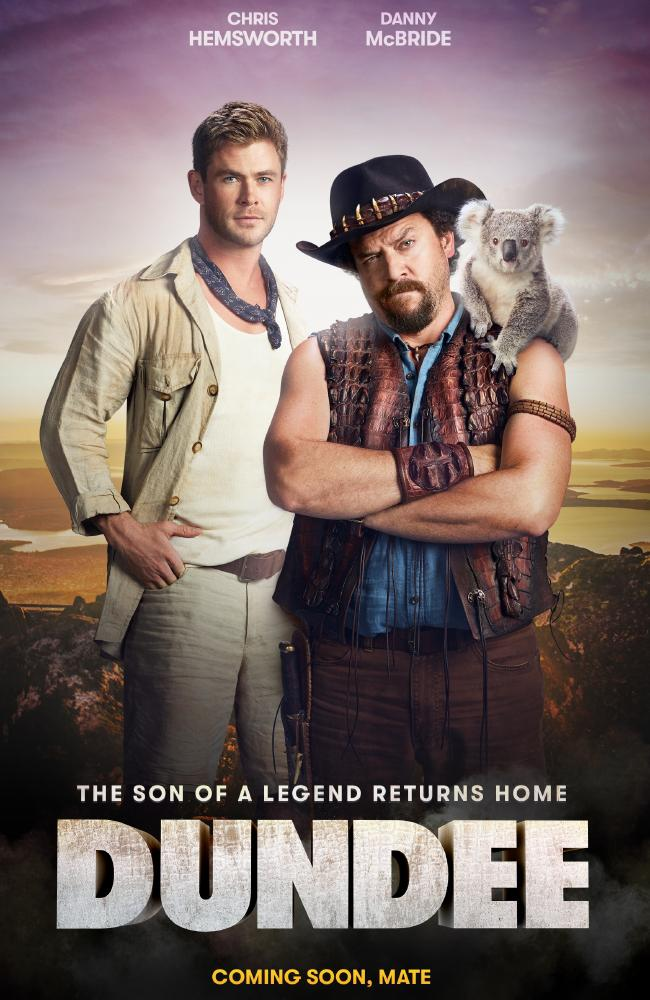 Coming soon (or is it?) ... Chris Hemsworth and Danny McBride in Dundee. Picture: Supplied