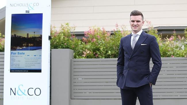 Cameron Nicholls, of Nicholls & Co Estate Agents, hires for attitude and trains for skill. Picture: Danny Aarons
