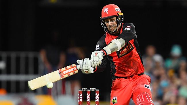 Tom Cooper hits out for the Renegades against the Heat.