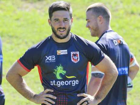 Dragons $1 million signing Ben Hunt at WIN Stadium in Wollongong. Picture: Dylan Robinson