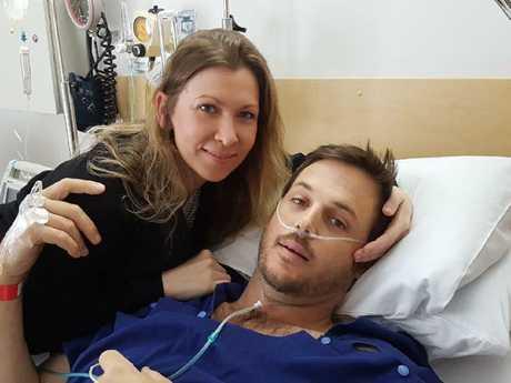 Ben Dwyer and girlfriend Chantelle Jukic.
