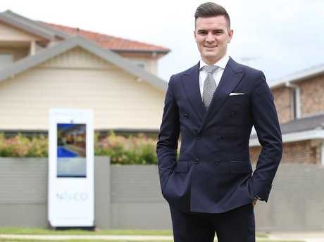 Cameron Nicholls, principal of Nicholls & Co Estate Agents, didn't go to university and has no regrets. Picture: Danny Aarons