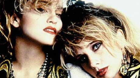 Rosanna Arquette opposite Madonna in the 1985 film Desperately Seeking Susan that made them both stars. Picture: Supplied