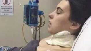 The teenager was left with 12 stitches. Picture: Channel 9