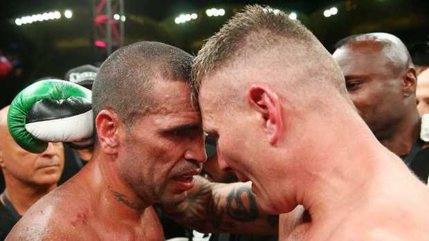 Australian boxers Anthony Mundine and Danny Green.