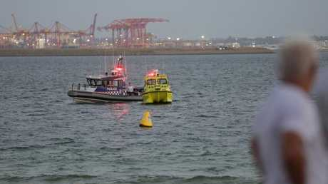 Police searching off Brighton-Le-Sands. Picture: Christian Gilles