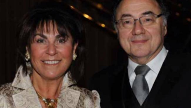 Police have reclassified the mysterious deaths of Canada's 15th richest man Barry Sherman (right) and his wife Honey (left) as a double homicide. Picture: CBC