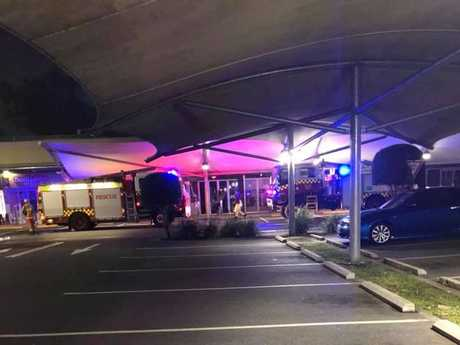 Emergency services at a gas explosion at Ballina Central.
